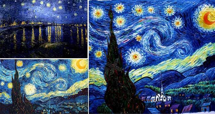 artwork of starry night - wedding beach theme ideas