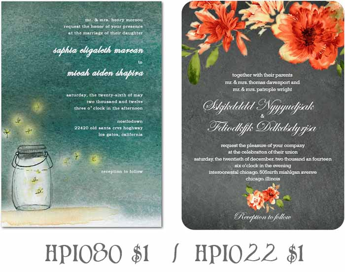 backyard wedding invitations - cheap beach theme wedding invitations