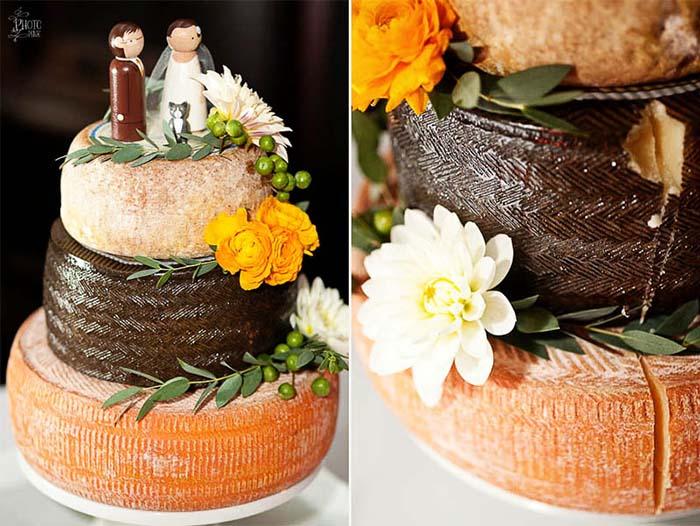 Beautiful Cheese Wheel Wedding Cakes