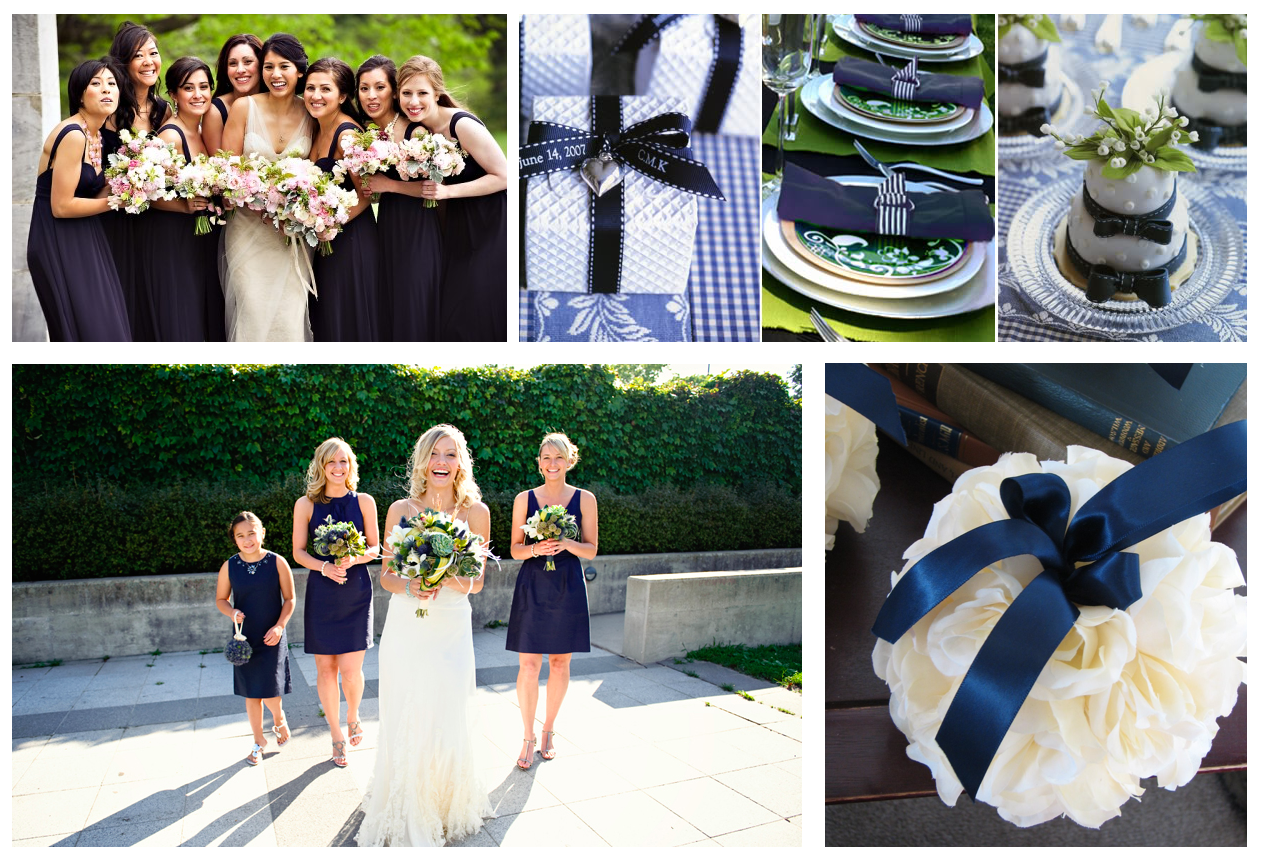 Navy Blue Color Themed Wedding