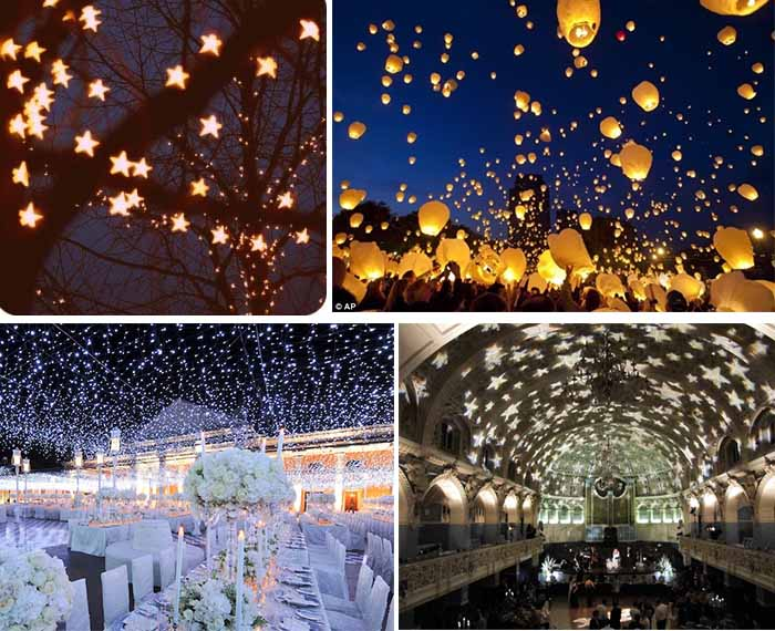 Night Wedding Ideas Starry Night Theme Wedding