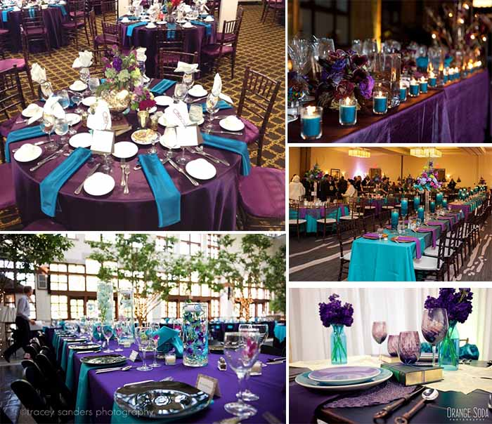 Teal Wedding Ideas For Reception: Funny Ideas Of Purple And Teal Color Themed Wedding