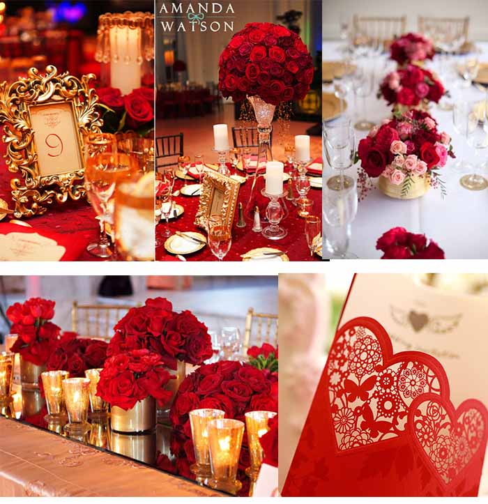 Red and gold wedding inspiration by linentablecloth gold and red wedding decor decoratingspecial junglespirit Gallery