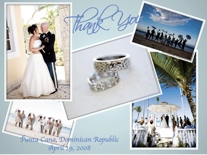 Unqiue Photo Thank You Card For Destination Wedding